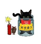 【びんねこ】黒猫バージョン(個別スタンプ:29)