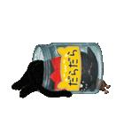 【びんねこ】黒猫バージョン(個別スタンプ:35)