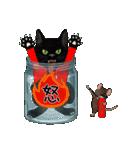 【びんねこ】黒猫バージョン(個別スタンプ:39)