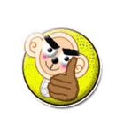 猿のプリシラX号。(個別スタンプ:30)
