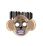 猿のプリシラX号。(個別スタンプ:35)