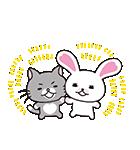 なかよしトーク 動く!うさぎのモフィPart2(個別スタンプ:02)