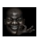 暗闇の黒人(個別スタンプ:19)