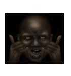 暗闇の黒人(個別スタンプ:21)