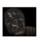 暗闇の黒人(個別スタンプ:22)