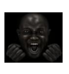 暗闇の黒人(個別スタンプ:23)