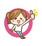 ゆるカジ女子♥5【らぶりーモード♥】(個別スタンプ:2)