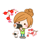 ほのぼのカノジョ 【☆☆たのしい春☆☆】(個別スタンプ:14)