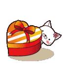 バレンタイン専用 白ネコちゃんの想い♥(個別スタンプ:10)