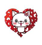バレンタイン専用 白ネコちゃんの想い♥(個別スタンプ:31)