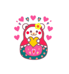 チョコくま☆マトリョーシカ【毎日コトバ】(個別スタンプ:21)