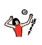バレーボール大好きシンコちゃん(個別スタンプ:02)