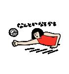バレーボール大好きシンコちゃん(個別スタンプ:04)