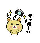くまごろう with カメラ(個別スタンプ:4)
