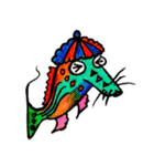 カラフルお魚第2弾(個別スタンプ:3)