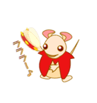 キャラメルランド ネズミ(赤)(個別スタンプ:11)