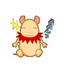 キャラメルランド ネズミ(赤)(個別スタンプ:15)