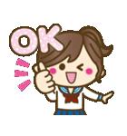 JK(女子高生)スタンプ♥【セーラー服編】(個別スタンプ:3)