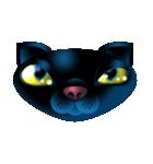 黒ねこクロス(個別スタンプ:02)
