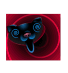 黒ねこクロス(個別スタンプ:05)