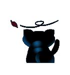 黒ねこクロス(個別スタンプ:30)