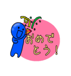 青いやつ7(看板付き)(個別スタンプ:39)