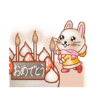 暖か可愛いウサギ(個別スタンプ:8)