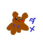 バレエの得意な落書き熊(個別スタンプ:01)