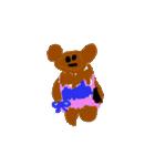 バレエの得意な落書き熊(個別スタンプ:23)