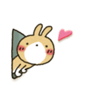 彼氏→彼女へ!茶うさぎパック(個別スタンプ:04)