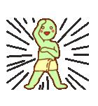 渡すと釣られる緑男(個別スタンプ:26)