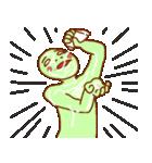 渡すと釣られる緑男(個別スタンプ:28)