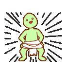 渡すと釣られる緑男(個別スタンプ:36)