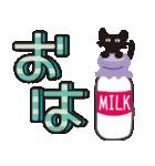 【デカ文字♥実用的】大人かわいい黒ネコ(個別スタンプ:14)