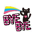 【デカ文字♥実用的】大人かわいい黒ネコ(個別スタンプ:40)