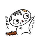 猫とフクロウ(個別スタンプ:01)