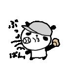 <野球>パンダ野球 Baseball panda(個別スタンプ:11)