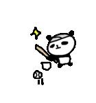 <野球>パンダ野球 Baseball panda(個別スタンプ:37)