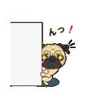 気軽にスタンプ パグ(個別スタンプ:35)