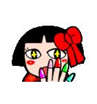 かわいい日本人形ちゃん(個別スタンプ:03)