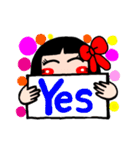 かわいい日本人形ちゃん(個別スタンプ:21)