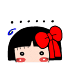 かわいい日本人形ちゃん(個別スタンプ:34)