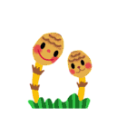 little chiple & うさ太郎(春)(個別スタンプ:8)