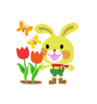 little chiple & うさ太郎(春)(個別スタンプ:20)