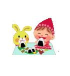 little chiple & うさ太郎(春)(個別スタンプ:21)