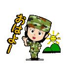 迷彩ガール2【先輩・後輩】(個別スタンプ:01)