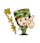 迷彩ガール2【先輩・後輩】(個別スタンプ:21)