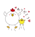 ニワトリさんのヒヨコ子育て(個別スタンプ:03)