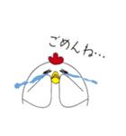 ニワトリさんのヒヨコ子育て(個別スタンプ:07)