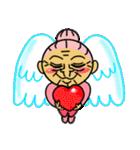 天使のピンクおばあちゃん(個別スタンプ:14)
